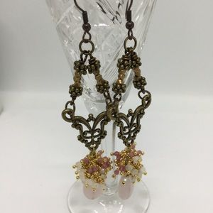 Jewelry - Antique Style Gemstone Cluster Earrings